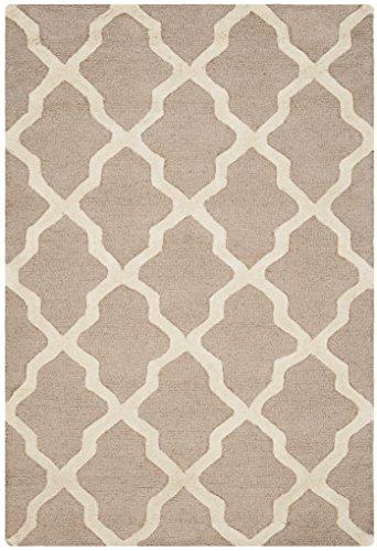 Safavieh Ava handgetufteter Teppich, CAM121J, Beige / Elfenbein, 121 X 182  cm