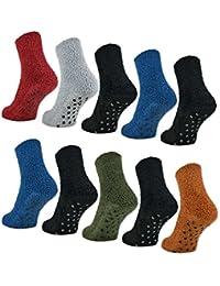 6 oder 12 Paar ABS Kuschelsocken mit Anti Rutsch Sohle Damen Kuschel Socken - 37423 - sockenkauf24