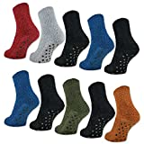 6 oder 12 Paar ABS Kuschelsocken mit Anti Rutsch Sohle Damen Kuschel Socken - 37423 - sockenkauf24 (35-42, 12 Paar | Farbmix)