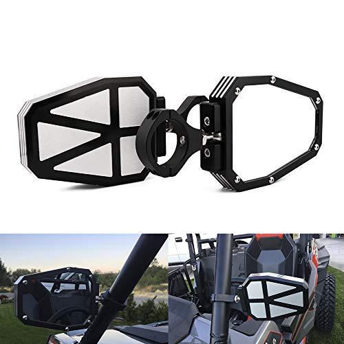 JFG RACING côté Rétroviseur en Alliage d'aluminium 4,4 cm UTV Offroad pour  RZR Miroir Joint Universel pour Polairs RZR 1000 XP Yamaha Rhino