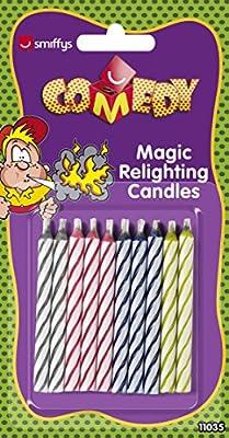 Smiffys, Bougies magiques, Lot de 10, 11035