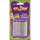 Smiffys, Magische Wiederzündbare Kerzen, Time 4 Fun, 10er Pack, 11035