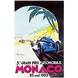 Monaco 1933 Vintage Poster