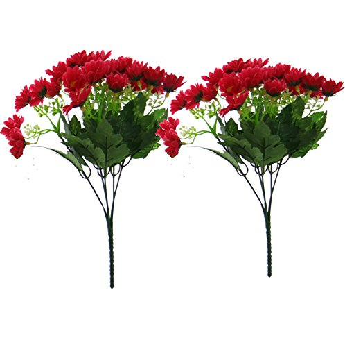 Fourwalls Daisy Bunch (Set of 2, 25 Flowers, Red)