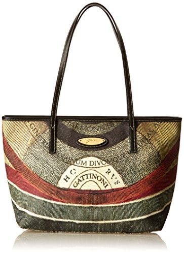 Gattinoni Gacpu0020055, Borsa a Spalla Donna, 13 x 24.5 x 31 cm (W x H x L) Multicolore (Classico)