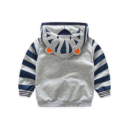 apuzen-Reißverschluss-Mantel, Winter-Säuglingskleinkind-Kinderjungen-Mädchen-Karikatur-Tier-Kapuzen-Reißverschluss übersteigt Kleidungs-Mantel ()