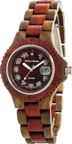 <strong>REDUZIERT:</strong> PREMIUM Holz-Uhr TENSE Mens Compass (made in Canada) - Sandelholz