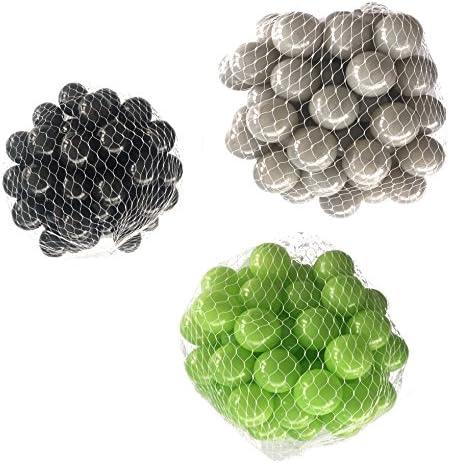 Balles pour bain Balles Mélangées Mix avec Vert Vert Vert clair, gris et noir | De Haute Qualité  e1f092