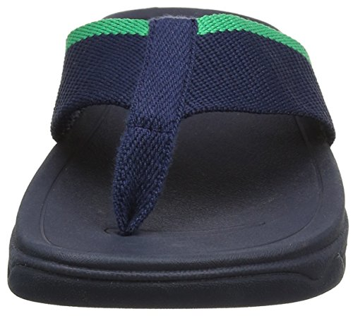 FitFlop Surfa Pretty, Sandales  Bout ouvert femme Blue (Midnight Navy/Parakeet Green)