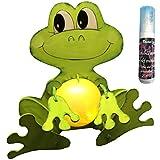 Petra's Bastel News A-LFR8318F Bastelset, Leuchti-Frosch, ALS Spardose oder Nachtlicht verwendbar, inklusive Acrylkugel und Satinierfarbe