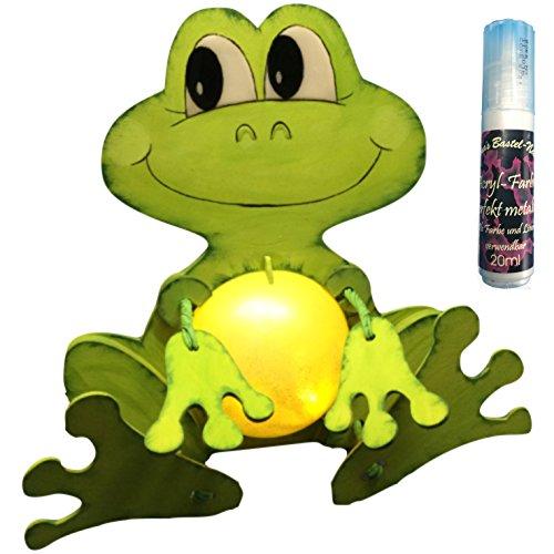 Petra\'s Bastel News A-LFR8318F Bastelset, Leuchti-Frosch, als Spardose oder Nachtlicht verwendbar, inklusive Acrylkugel und Satinierfarbe