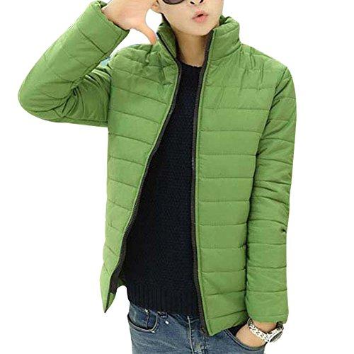 Männer Kurz Jacke Reissverschluss Winter Jacket Kältschutz Daunenjacke Dunkelgrün