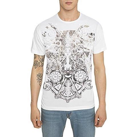 Camisetas para Hombre, T Shirt Cool Fashion Rock, Camiseta Blanca, Negra con Estampada - WARFARE Designer Vintage Metal T-shirt de Algodón, Cuello redondo, Manga corta, Ropa Moda Moderna S M L XL XXL