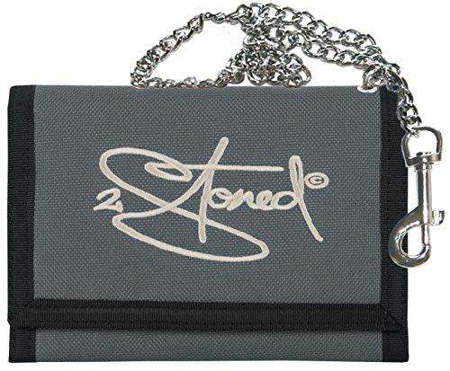 2Stoned Ketten-Geldbörse Wallet mit Stick Classic Logo in Anthrazit für Erwachsene und Kinder