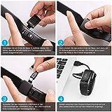 WiMiUS Fitness Armband mit Pulsmesser, Wasserdicht IP68 Fitness Tracker, Aktivitätstracker, Schlaf Monitor,Schrittzähler, GPS, Kalorienzähler Uhr Smart Watch für Damen Herren (Schwarz) - 7