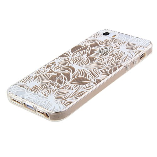 iPhone 6S Hülle,iPhone 6 Hülle [Scratch-Resistant],iPhone 6S 6 Hülle 4.7, ISAKEN iPhone 6S iPhone 6 4.7 Ultra Slim Perfect Fit Christmas Weihnachtstag Geschenk Muster Malerei TPU Clear Transparent Pro Blumen O