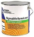 2,5L Sigma Sigmalife RenoLasur mittel Spezialgrundierung zum Aufhellen dunkler und Anpassen farblich ungleichmäßiger Hölzer im Aussenbereich