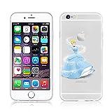 NEW Cendrillon Disney Princesse Transparent Coque souple en TPU pour Apple iPhone 5/5S/5C/6/6S & 6+/6+ S, plastique, CINDERELLA .1, Apple iPhone 5c