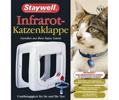 Karlie STAYWELL 500, Infrarot-Katzenklappe - Weiß, für Katzen