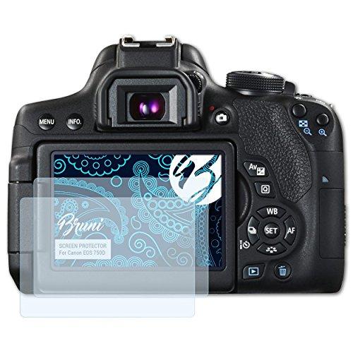 Bruni Schutzfolie für Canon EOS 750D / EOS Rebel T6i Folie, glasklare Displayschutzfolie (2X)