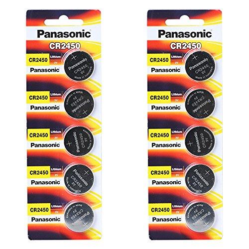 3-Volt-Lithium-KnopfzelleCR2450von Panasonic -10Batterien