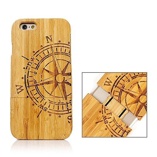 Zhou-covers, per iphone 6 & 6s, caso di legno separabile di modello della bandierina del regno unito (sku : s-ip6g-0336s)