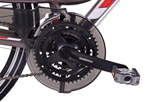 """51aFSD6K1GL - Ammaco Traveller 700c Mens Hybrid Bike Front Suspension Alloy 19"""" Frame Grey 21 Speed"""