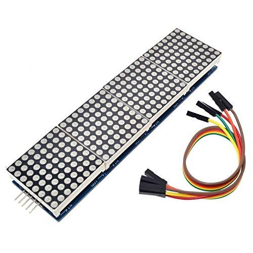 MAX7219 4 in 1 Dot Matrix MCU LED Display Module DIY Kit for Arduino Dot Matrix Module (Dot-matrix-led)