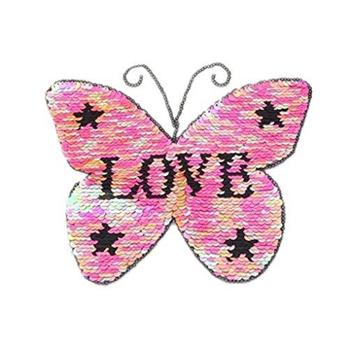 beIilan Butterfly Love Sequin Kleidung Aufn?her Duel Sides Sweater Applikationen Kost¨¹m Paste Zubeh?r