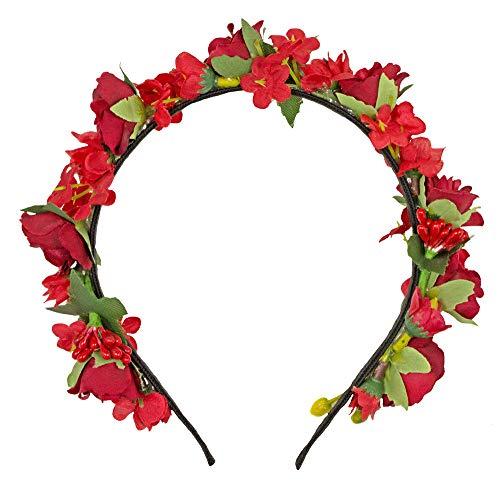 Trachtenland Blumen Haarreif Sabia - Rot