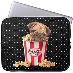 Funda ordenador, diseño de carlino para portátil Macbook Pro/portátiles/Notebook