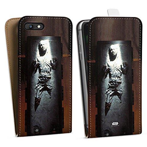 Apple iPhone 8 Hülle Premium Case Cover Star Wars Merchandise Fanartikel Han Solo frozen Downflip Tasche weiß