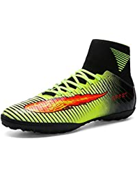 ASHION Botas de fútbol para hombre Botas de microfibra Adolescentes y adultos Profesión Atletismo Turf