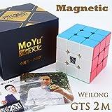 MAGNETISH *Weilong GTS v2 M* - Magnetisiert MoYu 3x3 Profi & Wettkampf Speed Cube Geschwindigkeitswürfel Magic Cube Zauberwürfel 3D Puzzle - STICKERLESS