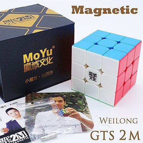 Team Chinese Box (MAGNETISH *Weilong GTS v2 M* - Magnetisiert MoYu 3x3 Profi & Wettkampf Speed Cube Geschwindigkeitswürfel Magic Cube Zauberwürfel 3D Puzzle - STICKERLESS)