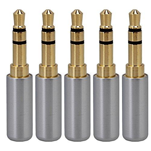 BQLZR Argento 3,5mm Mini Jack Stereo da 3,5mm maschio placcato oro rame saldatura connettore