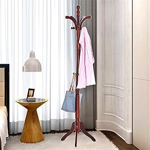 Cintre multifonction en bois massif haut de gamme Porte-manteau en