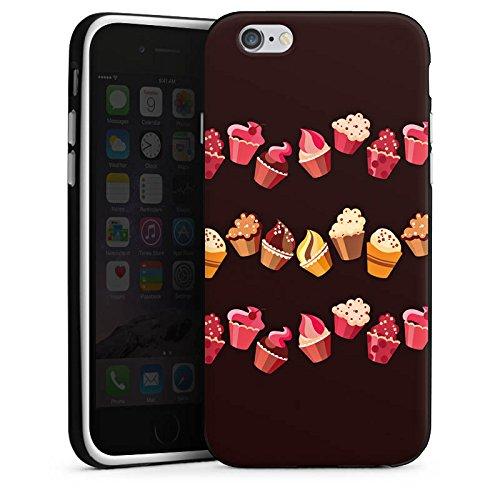 Apple iPhone 6s Plus Hülle Case Handyhülle Chocolate Muffins Cupcake Kuchen Silikon Case schwarz / weiß