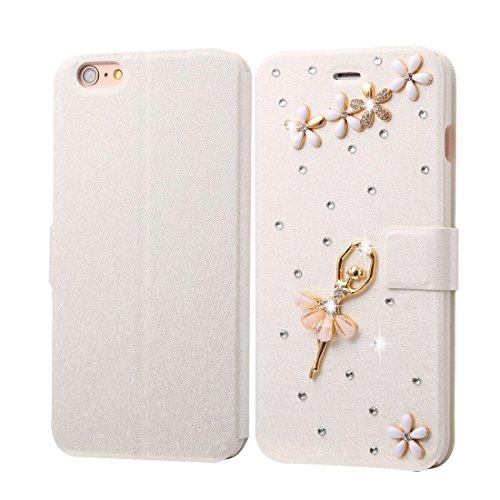 Phone case & Hülle Für IPhone 6 Plus / 6s Plus, Diamond verkrustete Perle Schmetterling Pattern Horizontale Flip Leder Tasche mit magnetischen Wölbung & Card Slots ( SKU : IP6P1000C ) IP6P1000C