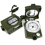 iDream mit Deutsche Anleitung Neue Amerikanische Outdoor-Militär Prisma Kompass Marschkompass Peilkompass Premium Qualität militär kompass Miniaturkompass kompass militär mit Deutsche Anleitung