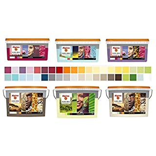 Alpina Colorful World Innenfarbe, 1 L. Contrast Nordica, Dunkelblau, matt