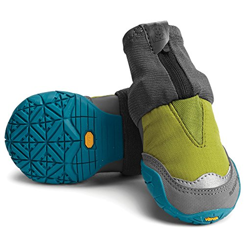 (Ruffwear Hunde-Schuhe für extrem kalte Wetterbedingungen (2er Set), Kleine bis mittelgroße Hunderassen, Größe: 57 mm, Grün (Forest Green), Polar Trex, P15301-307225)