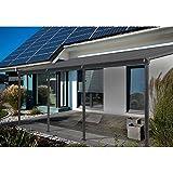 Home Deluxe | Terrassenüberdachung | grau | Inkl. komplettem Zubehör | 495 x 303 x 226 / 278 cm