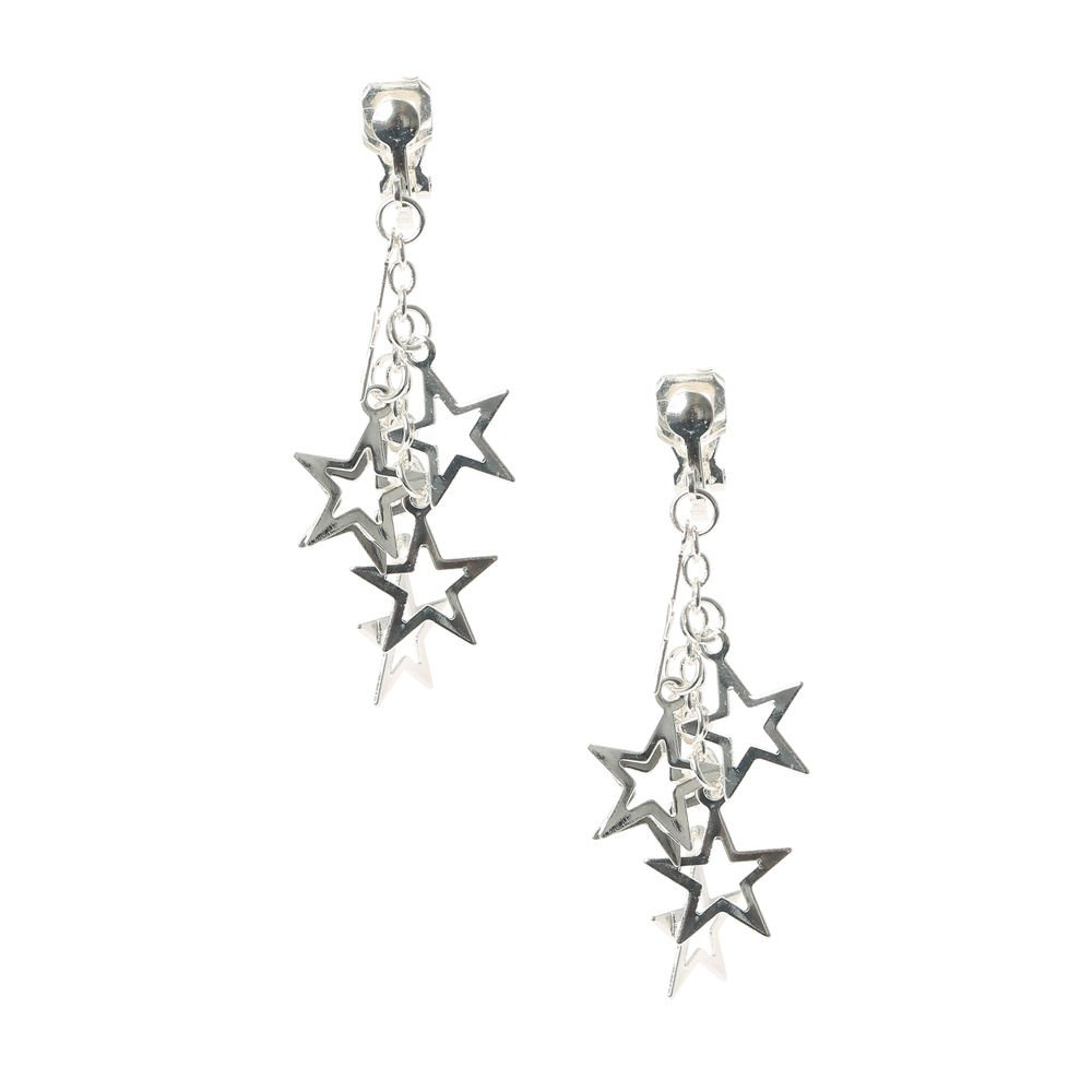 Claire's Girl's Super Star Clip On Drop Earrings
