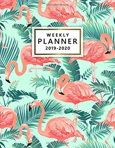 2019-2020 Weekly Planner: Pretty Pink Tropical Flamingo Daily, Weekly and Monthly Planner. Cute Two Year Organizer, Schedule and Agenda with Inspirational Quotes, Notes, To-Do's, Vision Boards, ... por Nifty Planners