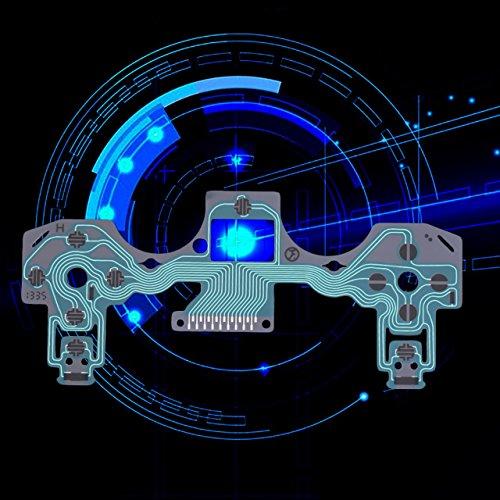 Jasnyfall Partie de réparation de Clavier de Film conducteur pour Playstation 4 pour Le contrôleur de PS4 Jasnyfall