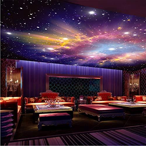 3D Wandbild Benutzerdefinierte Wandbilder 3D Star Nebula Nachthimmel Wandmalerei Decke Pocken Tapete Schlafzimmer Tv Hintergrund Galaxy Theme Wallpaper-140X100cm