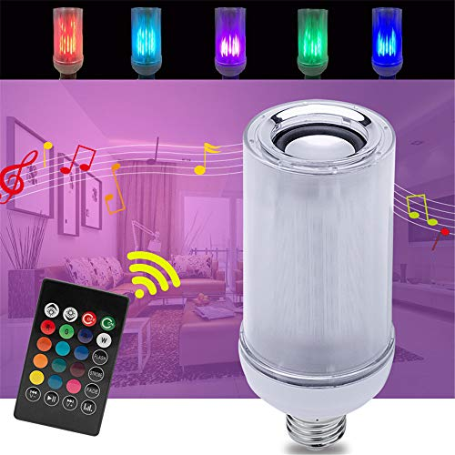 Bombilla Incandescente,Bluetooth Music Light Led Music Light Mobile App  Control Colorido Music Light Smart Flame Music Bulb 2 Unids