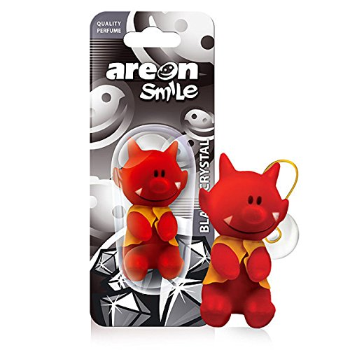 Areon Smile Deodorante per Auto Divertente 3D Red Devil Black Crystal (1 conteggio)