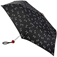 Lulu Guinness Minilite Folding Umbrella - Kooky Cat
